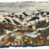 FRANCES-HATCH-CROWS-FORAGING-ALONG-RETREATING-TIDE-LINE-16x22cm