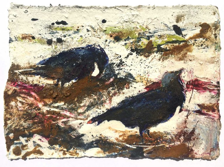 Ravens-Foraging-Amongst-the-Weed- Frances-Hatch