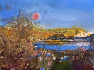 ART CARD: Lodmoor November Moon