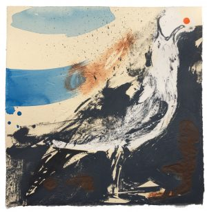 EARTH GULL- LADRAM CALL. Hand-finished intaglio print. Edition of 20.