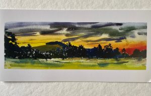 FOLDING GREETING CARD: AUGUST DAWN.