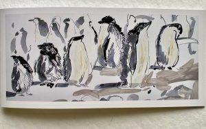 FOLDING GREETING CARD: ADELIE PENGUIN ROOKERY.