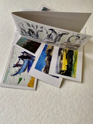 FOLDING GREETING CARD: BREAK IN THE CLOUD:  FROM THE WEST OVERCLIFF