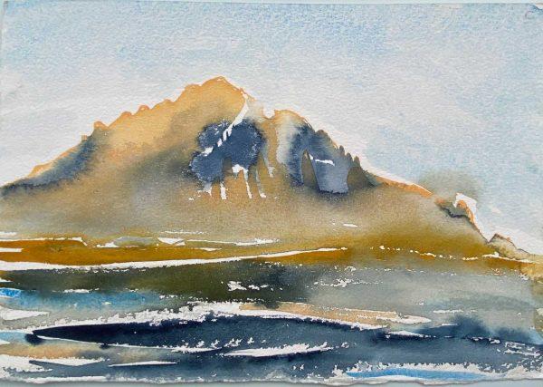Iceland Hofn Quiet 28x21cm watercolour