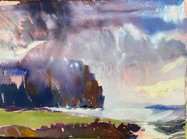 Orkney Weather Eye 28x21cm watercolour