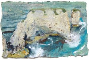 ART CARD: Turquoise Milk Wash