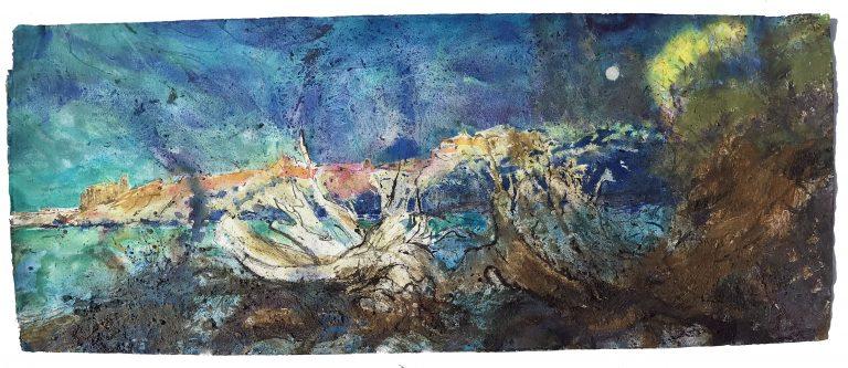 SUNRISE-MOONSET - SANDSFOOT CASTLE Frances Hatch