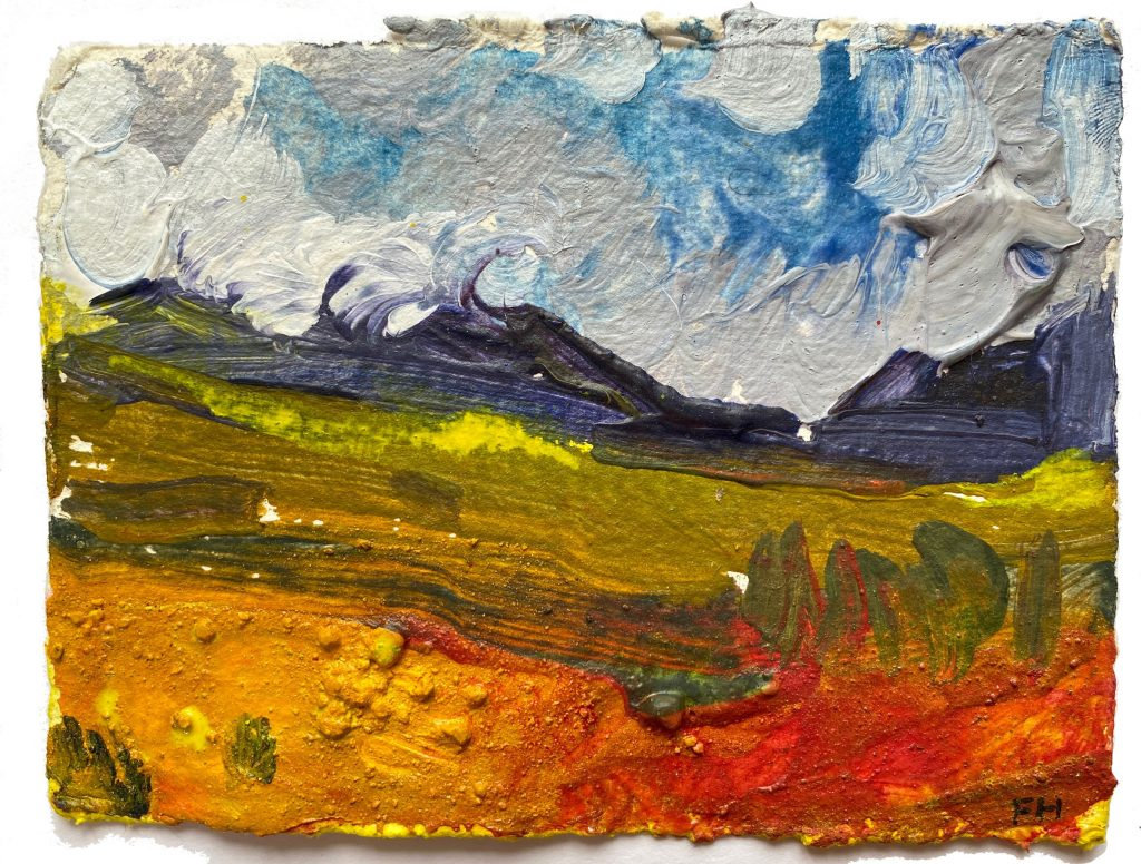 Frances Hatch Small Sunshine Study, North West Highlands 2011