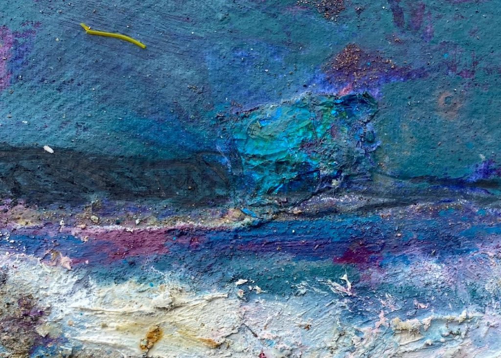 Chesil Storm with Ultramarine Pink
